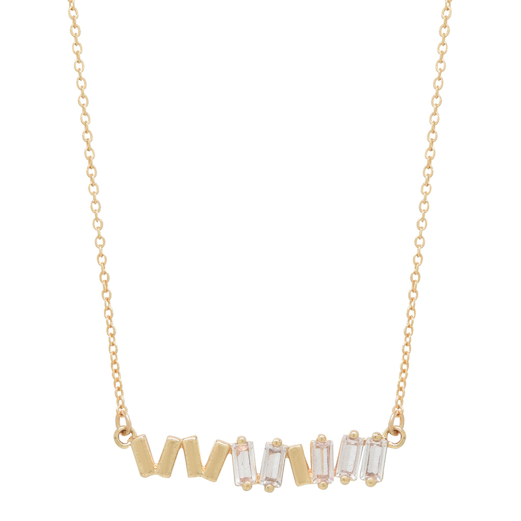 Multi CZ Baguette Necklace
