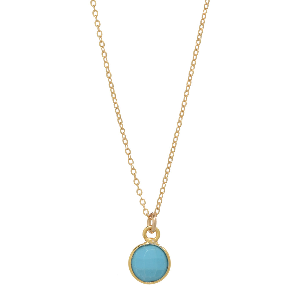 Tiny Bezel Stone Necklace (more colors)