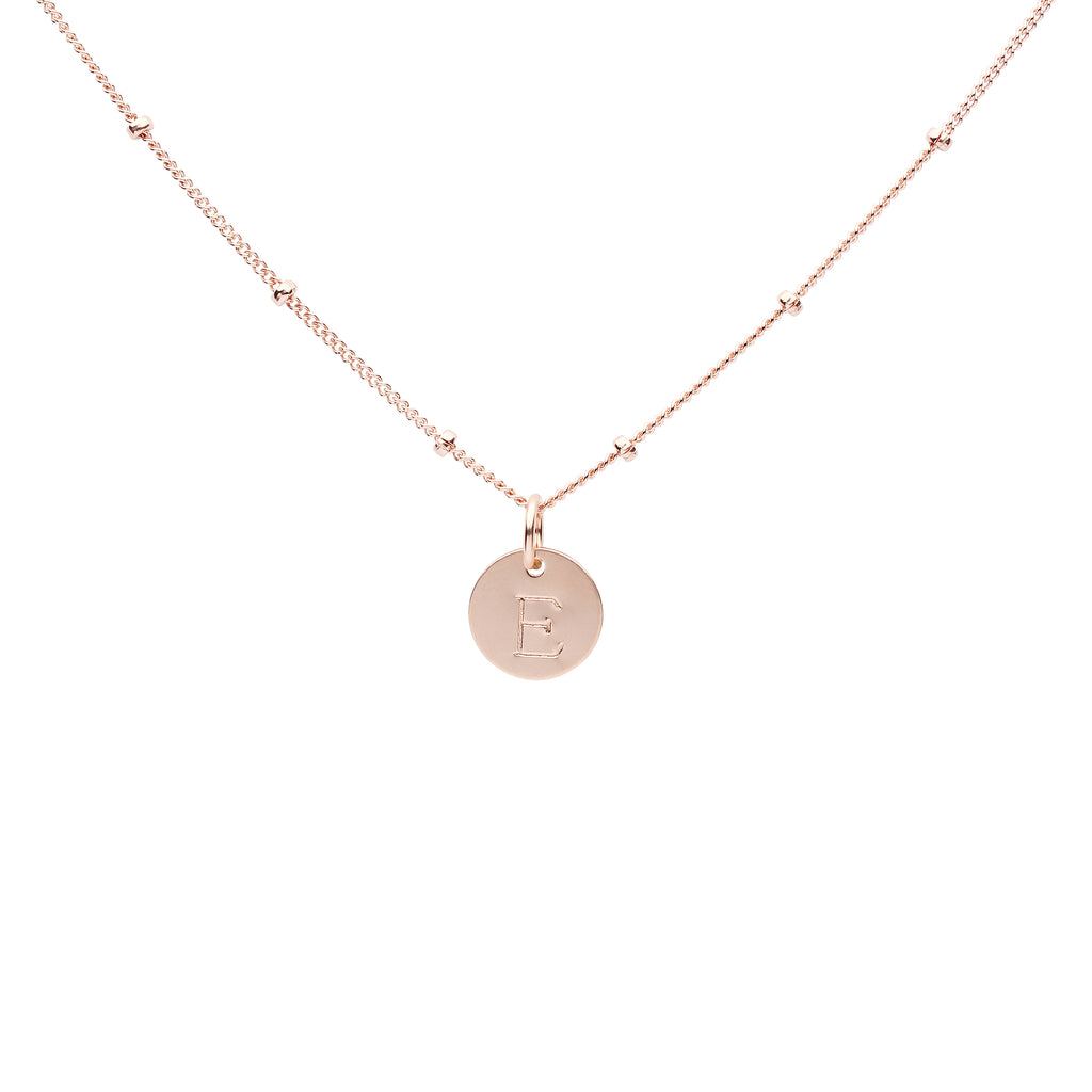 Monogram Necklace on Ball Chain
