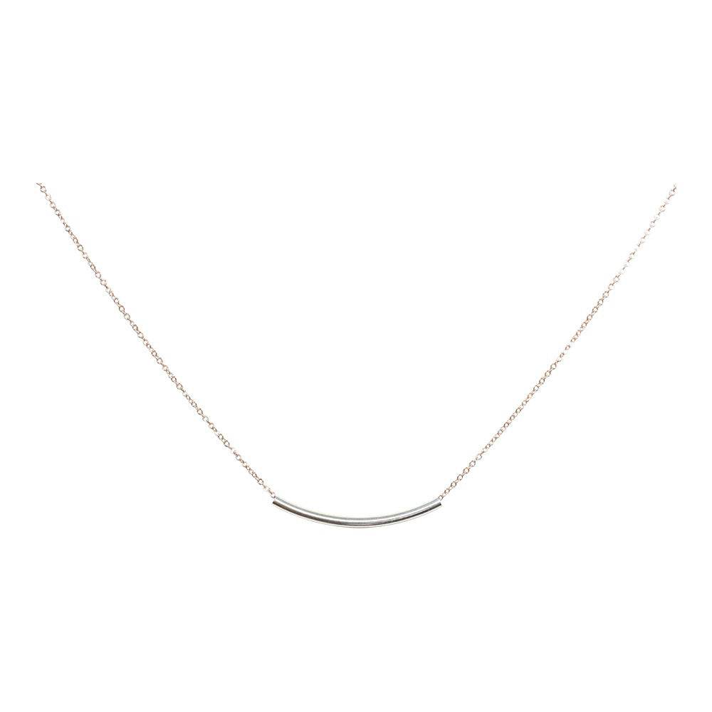 SALE - 2-Tone Curved Tube Necklaces