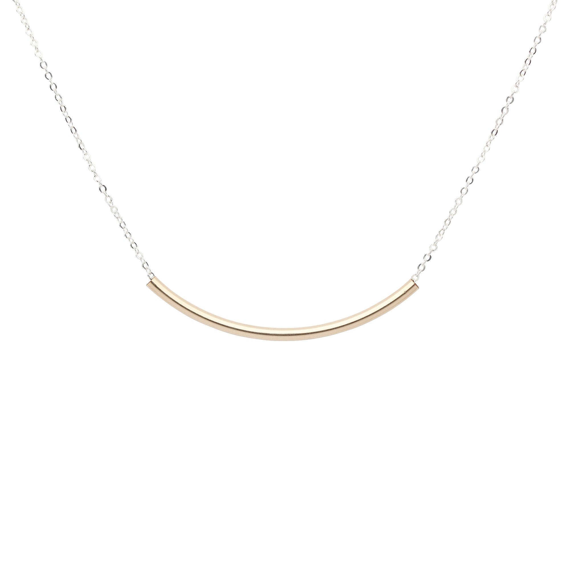 Extra Long Curved Tube Necklace