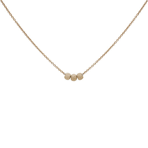 Triple Stardust Ball Necklace