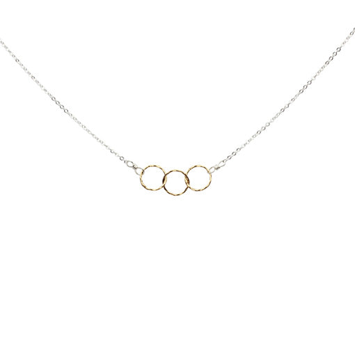 SALE - 2-Tone Tiny Diamond Cut Necklace