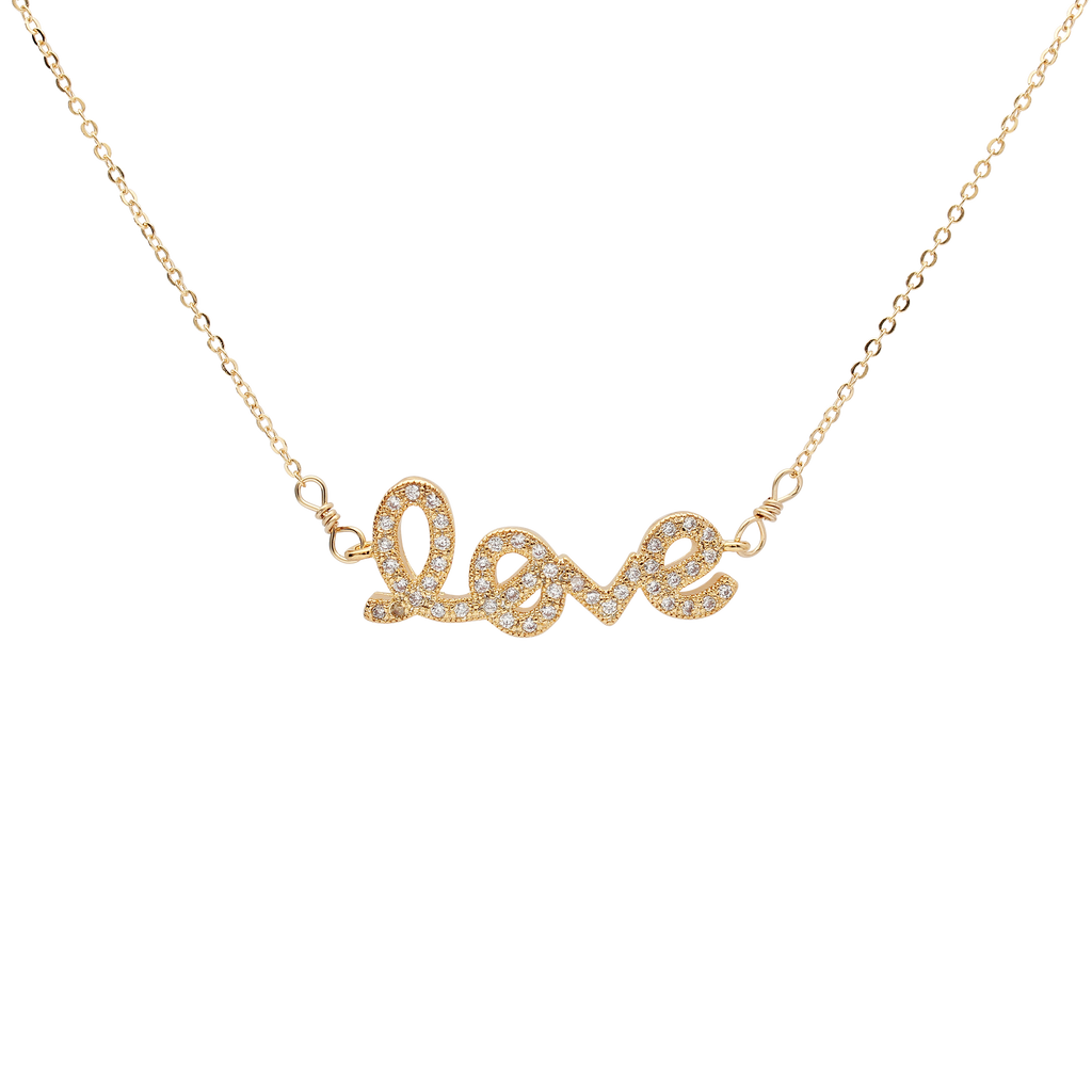 SALE - CZ LOVE Necklace