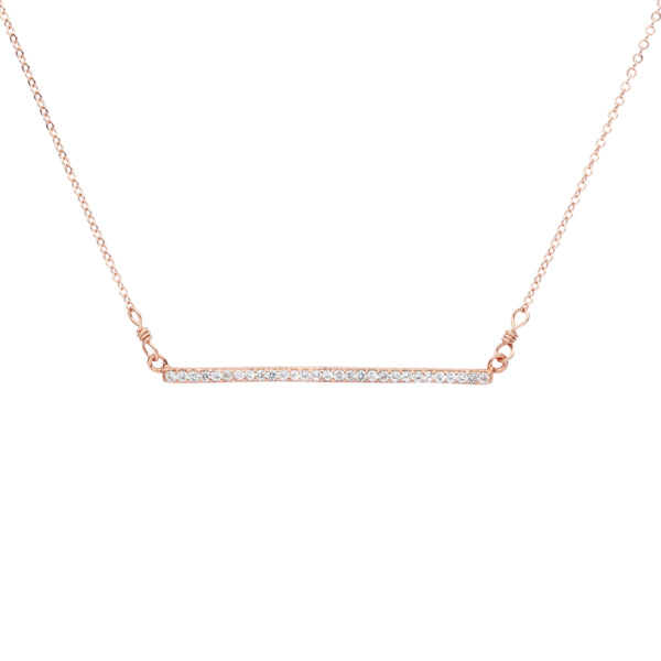 SALE - CZ Horizontal Bar Necklace