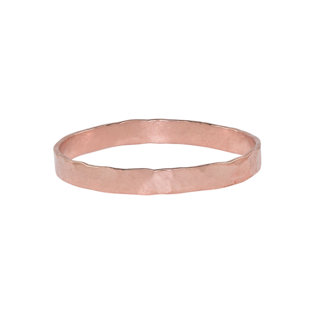 Thick Hammered Band Ring