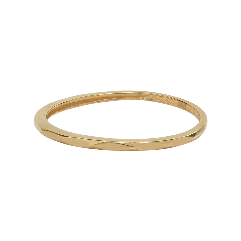 10k Solid Gold Hammered Band
