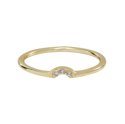 Tiny Arc CZ Ring
