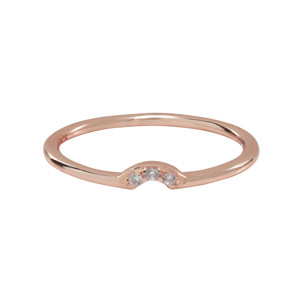 SALE - Tiny Arc CZ Ring
