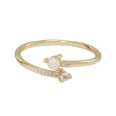 Opal / CZ Arrow Ring