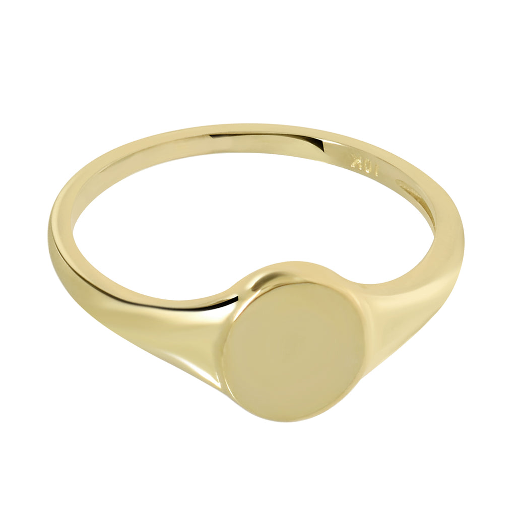 10k Solid Gold Signet Ring