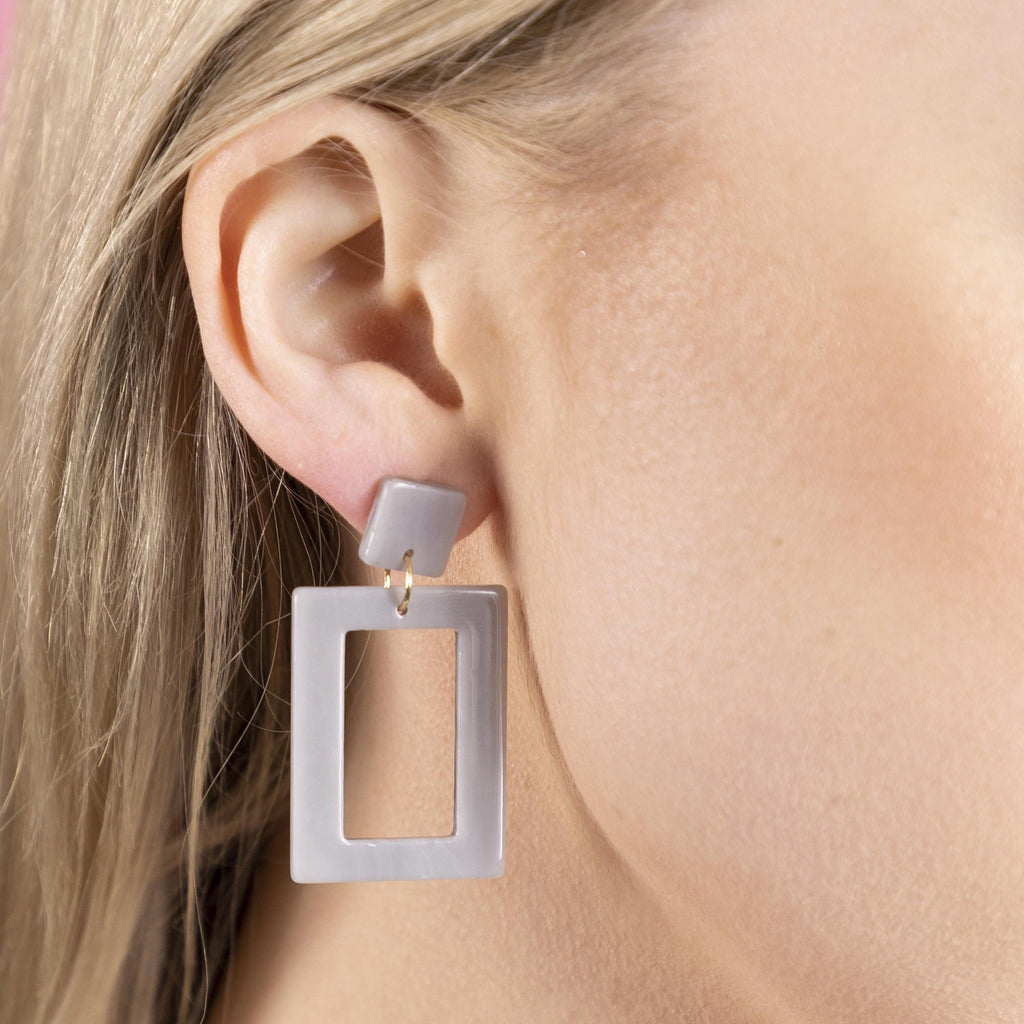 Lucite Square/Rectangle Drop Earrings (more colors)