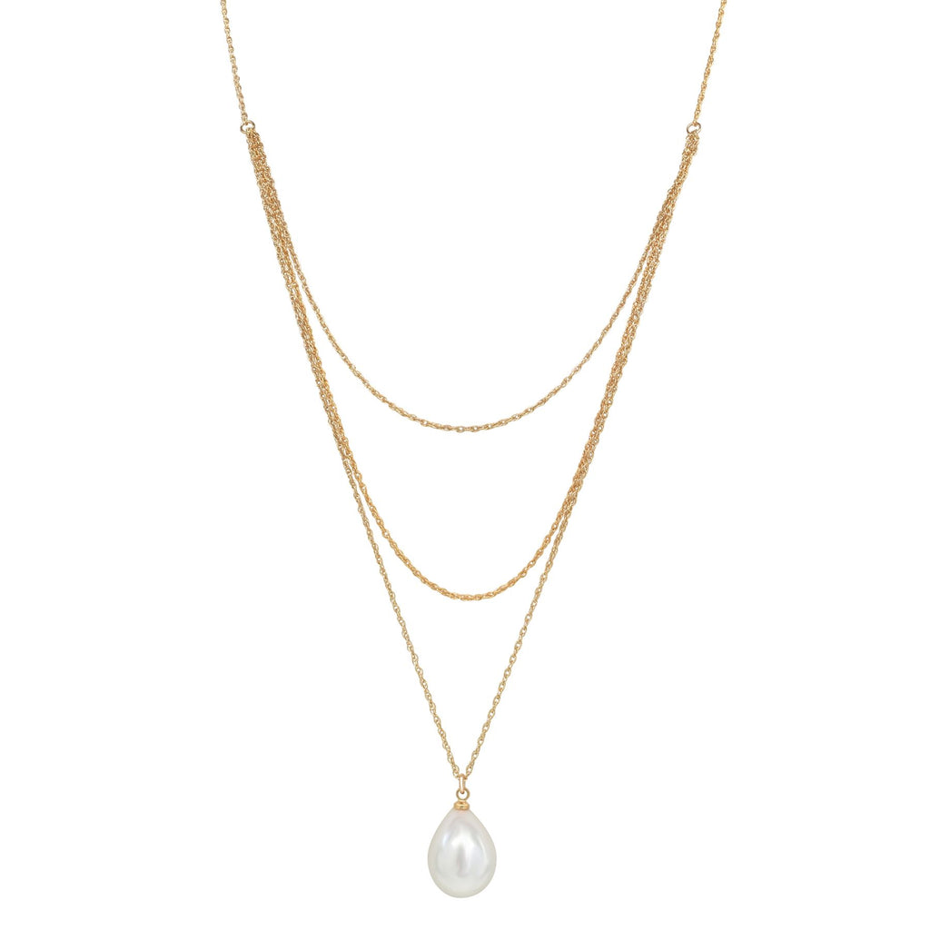 Triple Layered Pearl Necklace