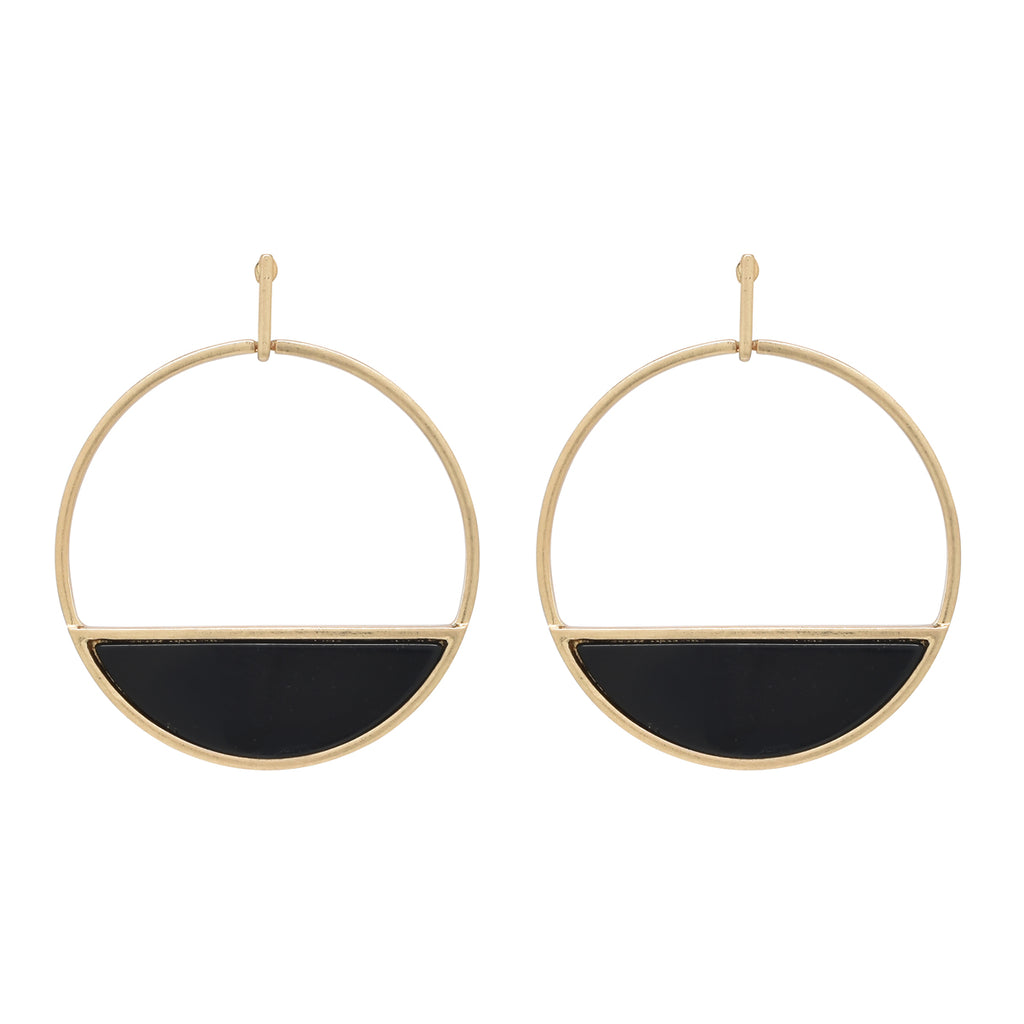 SALE - Large Onyx Horizon Earrings