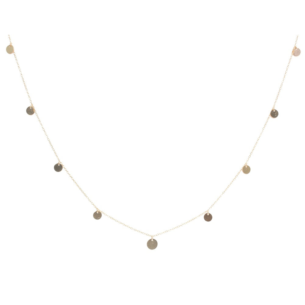 Multi Discs Long Necklace