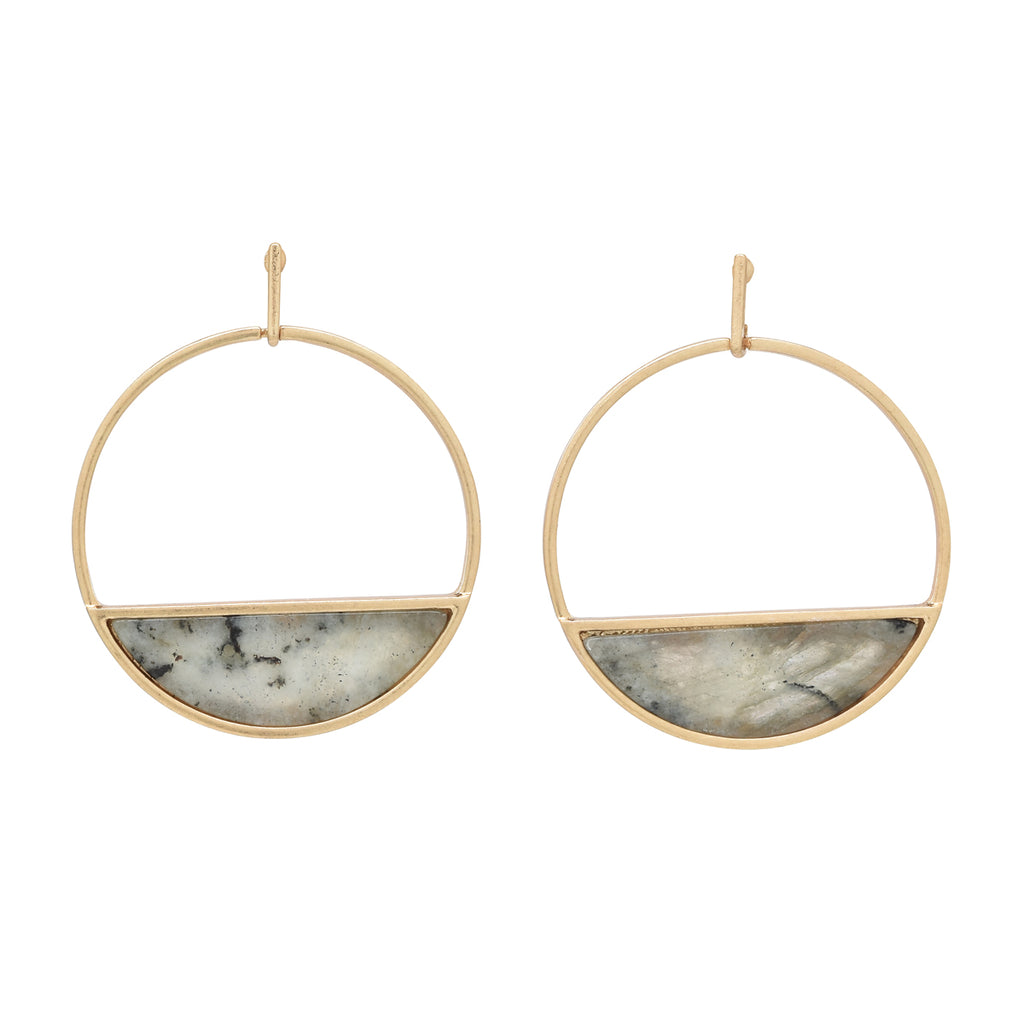 SALE - Large Labradorite Horizon Earrings