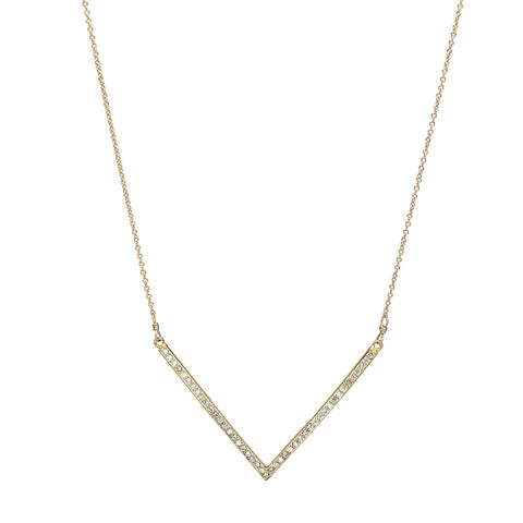 CZ Chevron Necklace