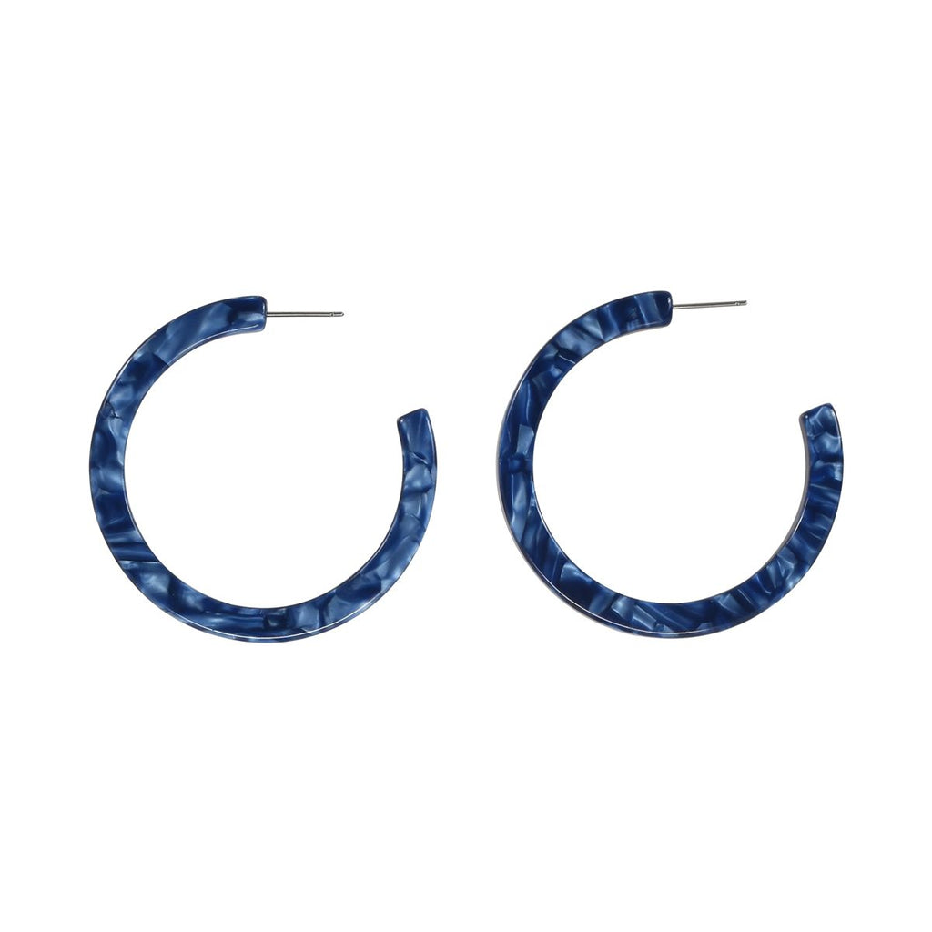 SALE - Blue Lucite Hoops