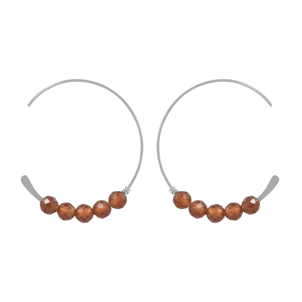 SALE - 26mm Brick Stone Hammered End Hoops