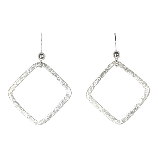 SALE - Open Square Brushed Earrings