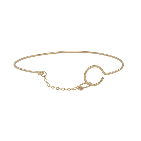 Double Circle with Chain Bracelet