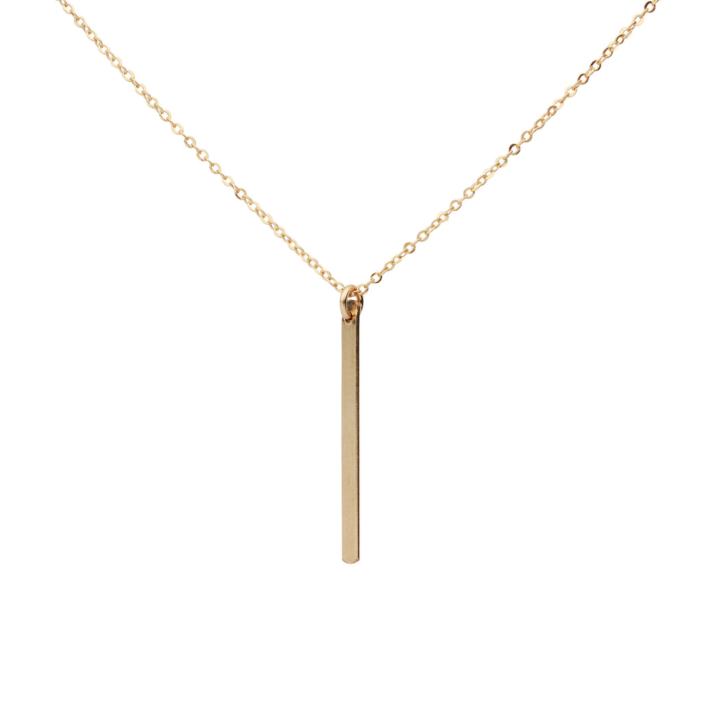 Single Bar Drop Necklace
