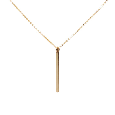 Single Bar Drop Neck on Thin Chain