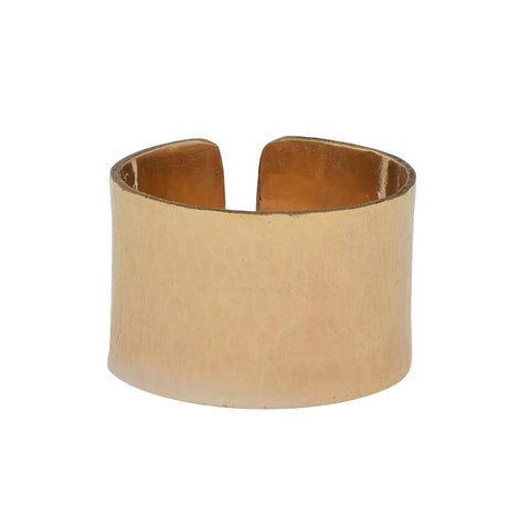 Hammered Cigar Band Ring