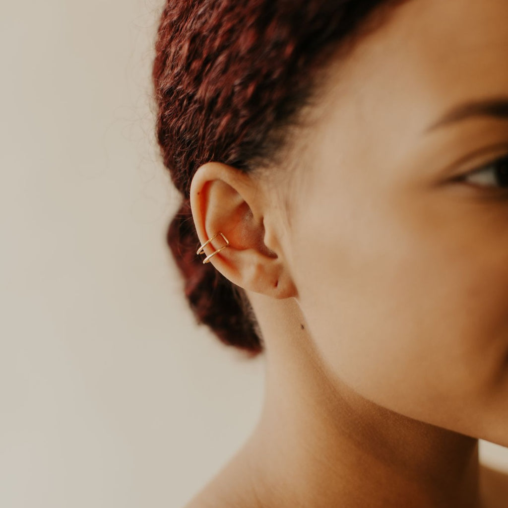 Double Line Middle Ear Cuff