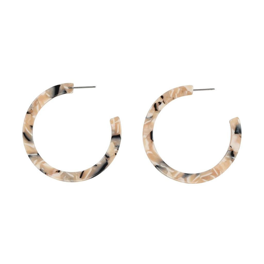 SALE - Calico Lucite Hoops