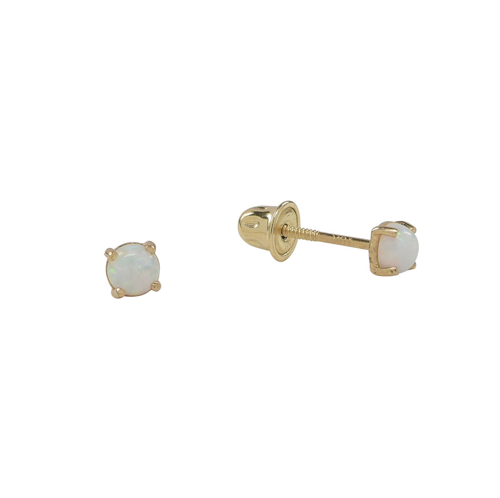 10k Solid Gold Opal Studs