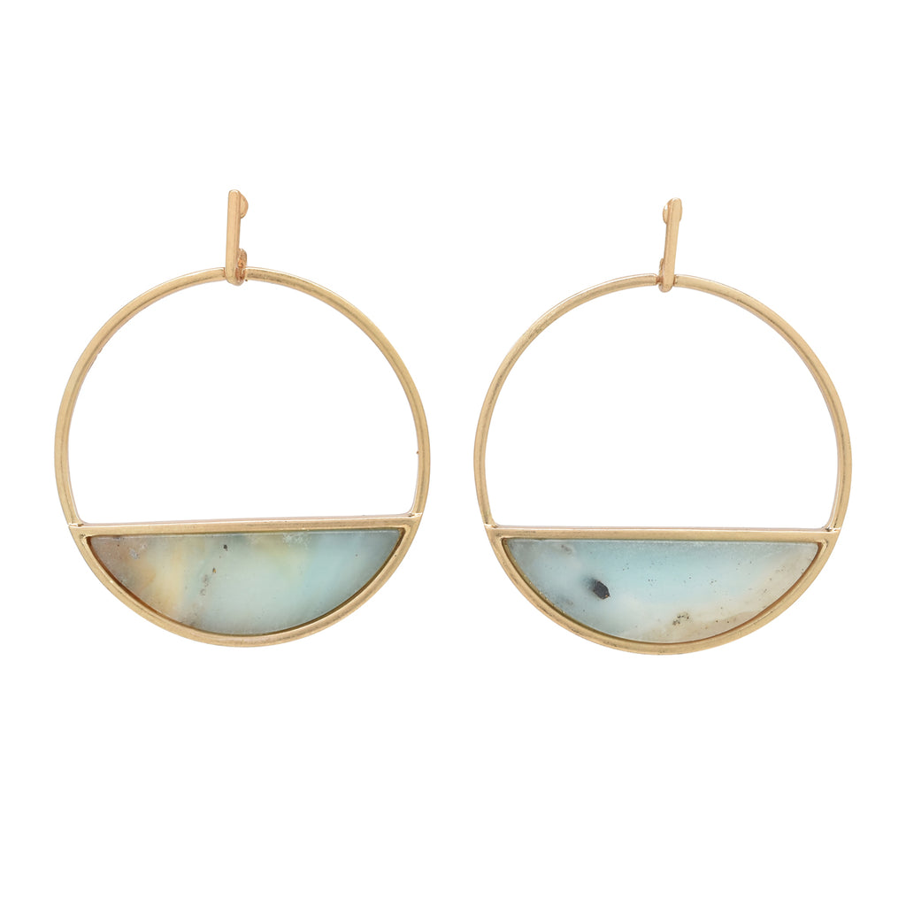 SALE - Large Amazonite Horizon Earrings