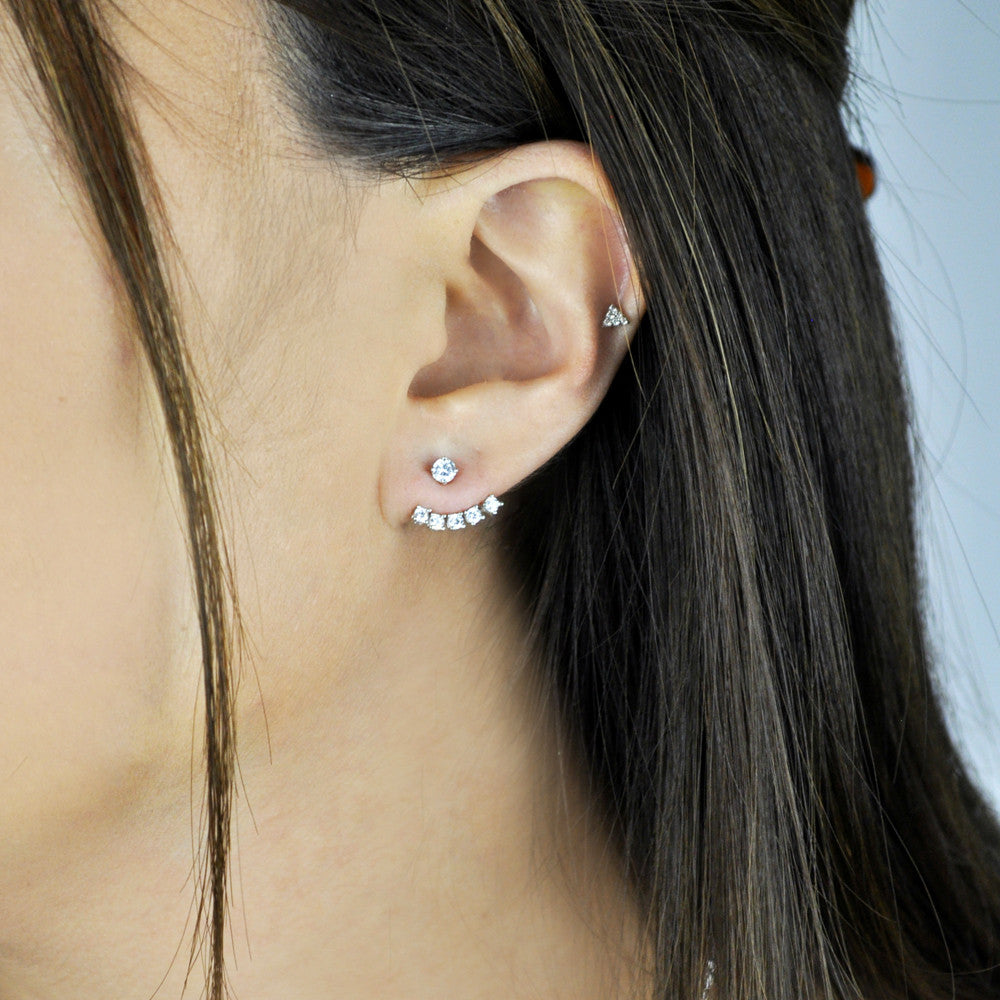 Separated 5 CZ Ear Jacket