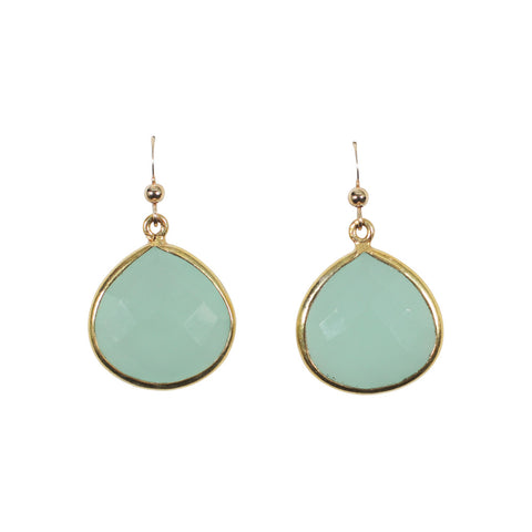 Medium Bezel Teardrop Earrings