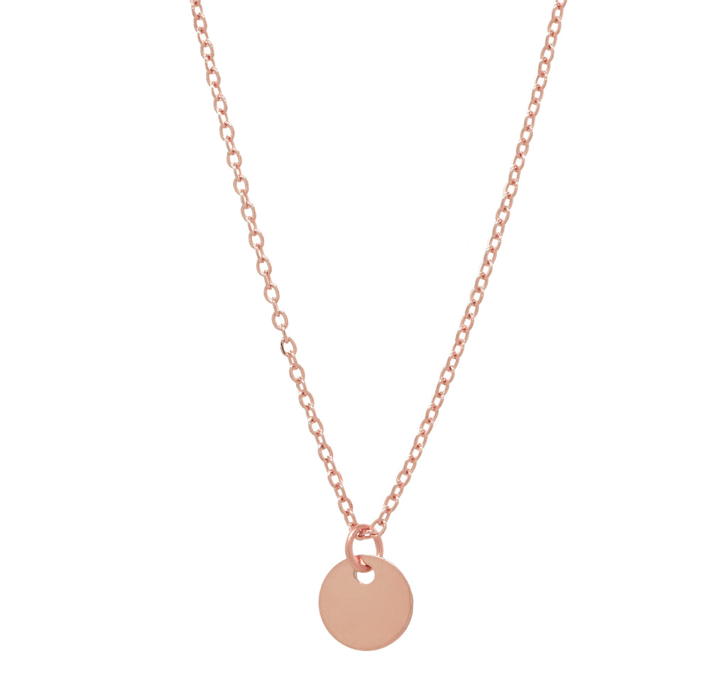 b87f5c382fd80 Solid Gold Tiny Disc on Thin Chain Necklace
