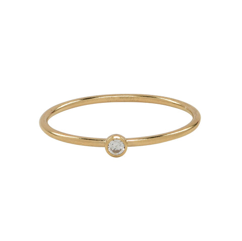 SALE - Diamond Shape Rose Gold Bezel Ring