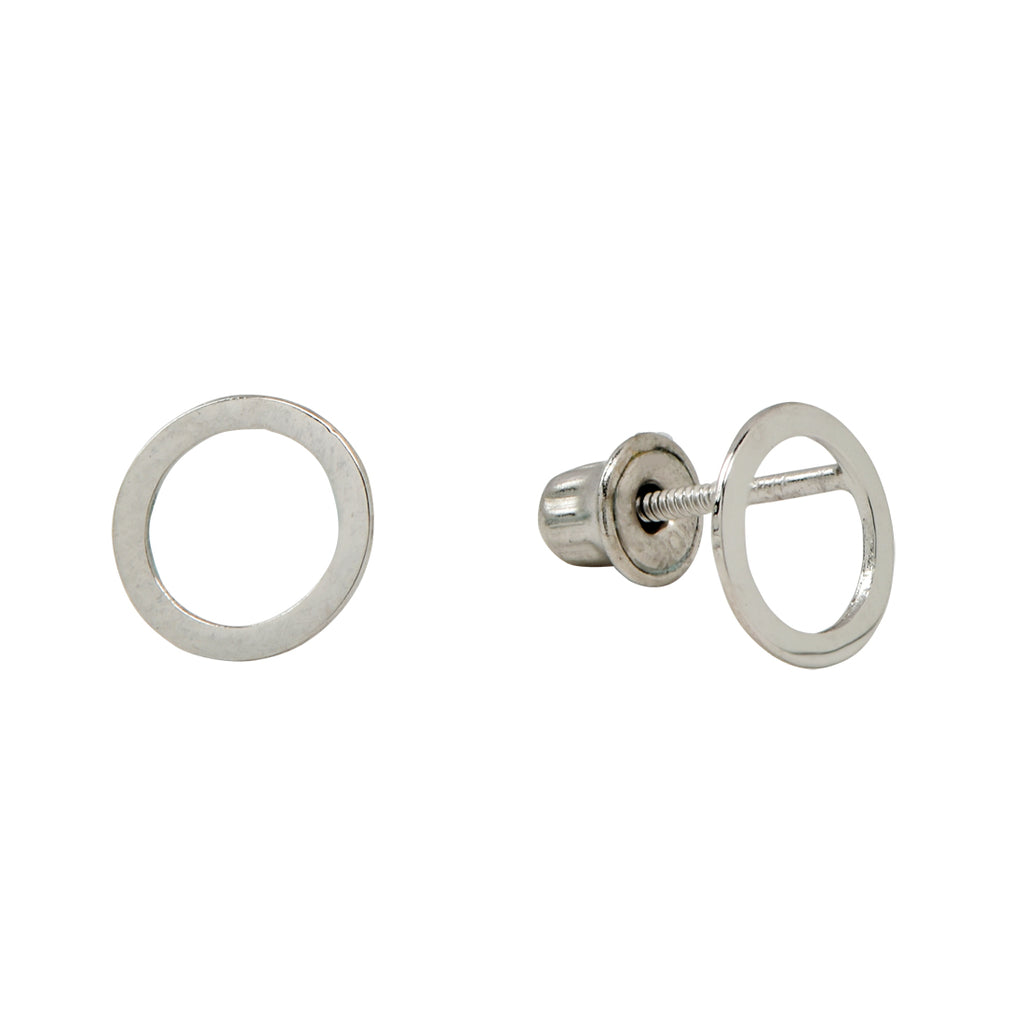 SALE - 10k Solid Gold Cutout Circle Studs