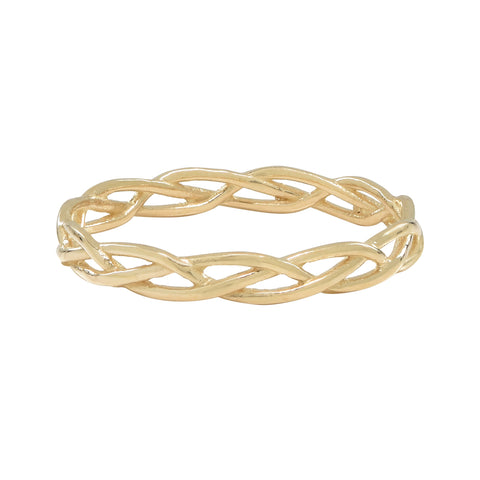 10k Solid Gold Twist Ring