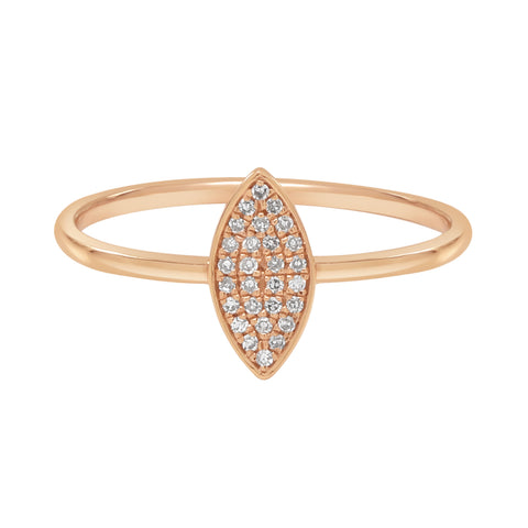18k Marquise Diamond Ring