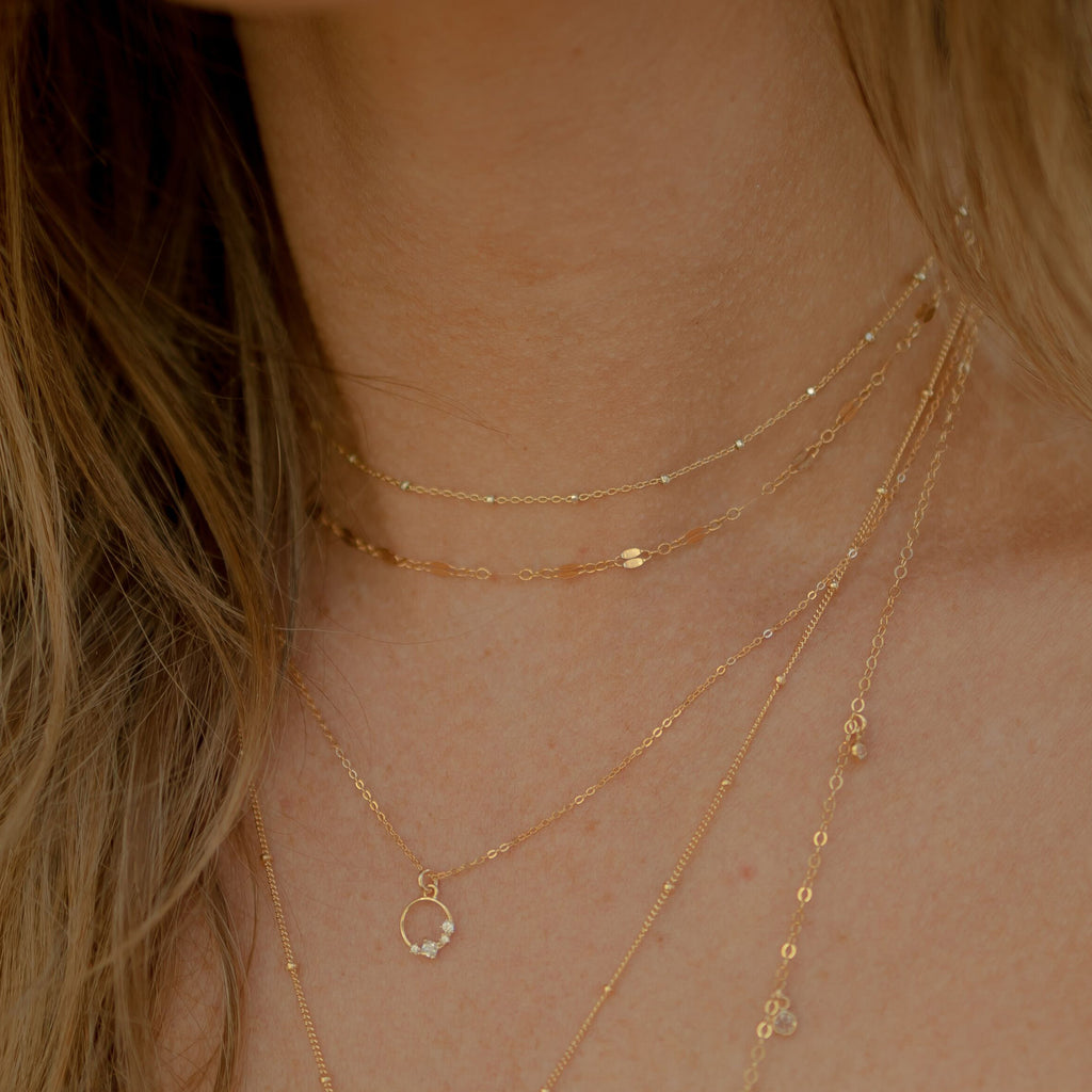 GL Chain Layering Necklace