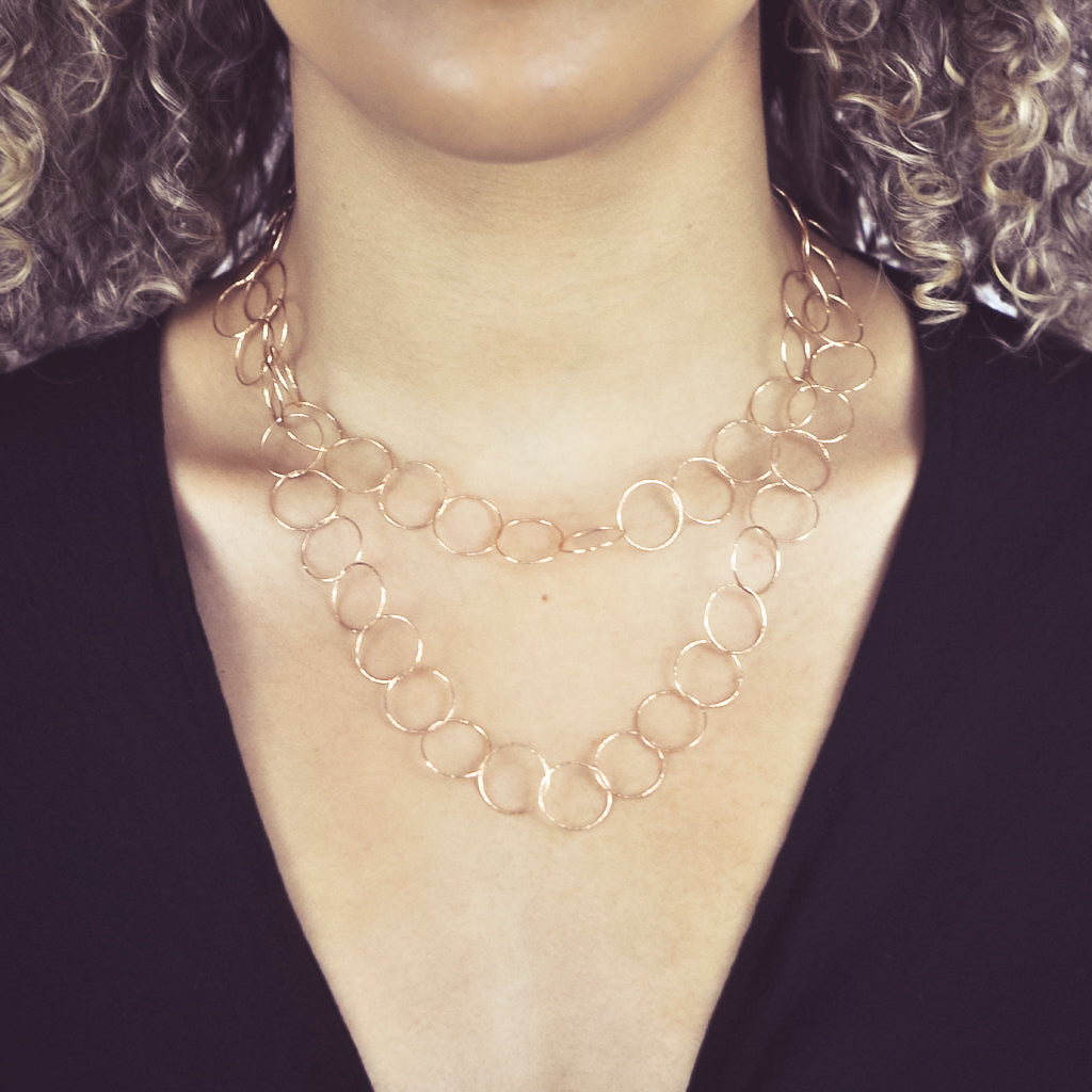 Multi-Interlocking Diamond Cut Necklace