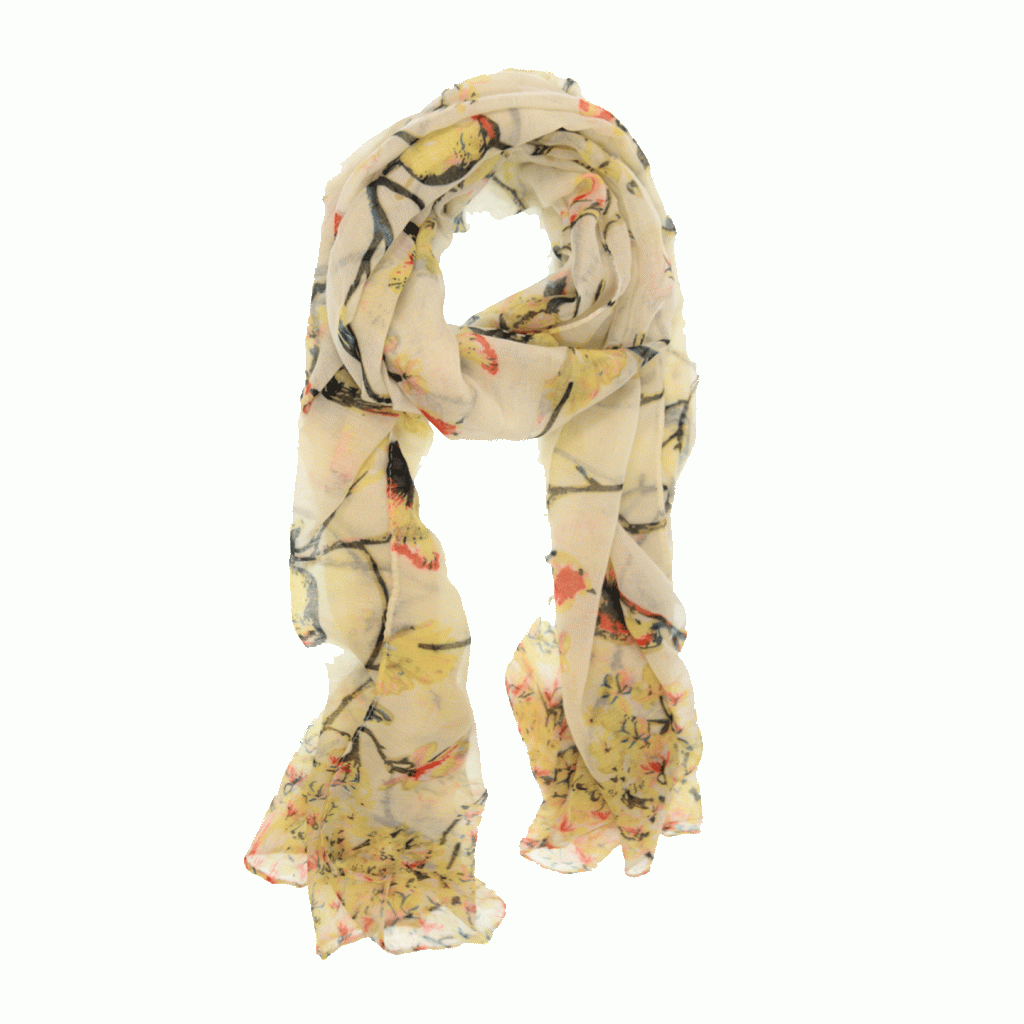 Ivory Free As A Bird Scarf