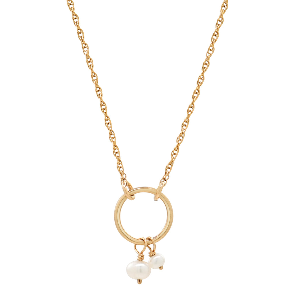 Halo Duo Pearl Necklace