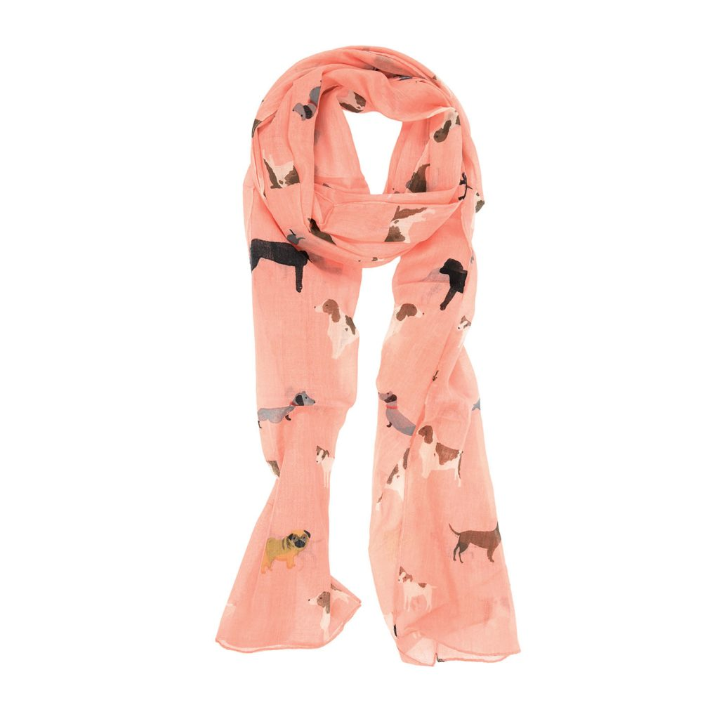 Cotton Dog Print Scarf (more colors)