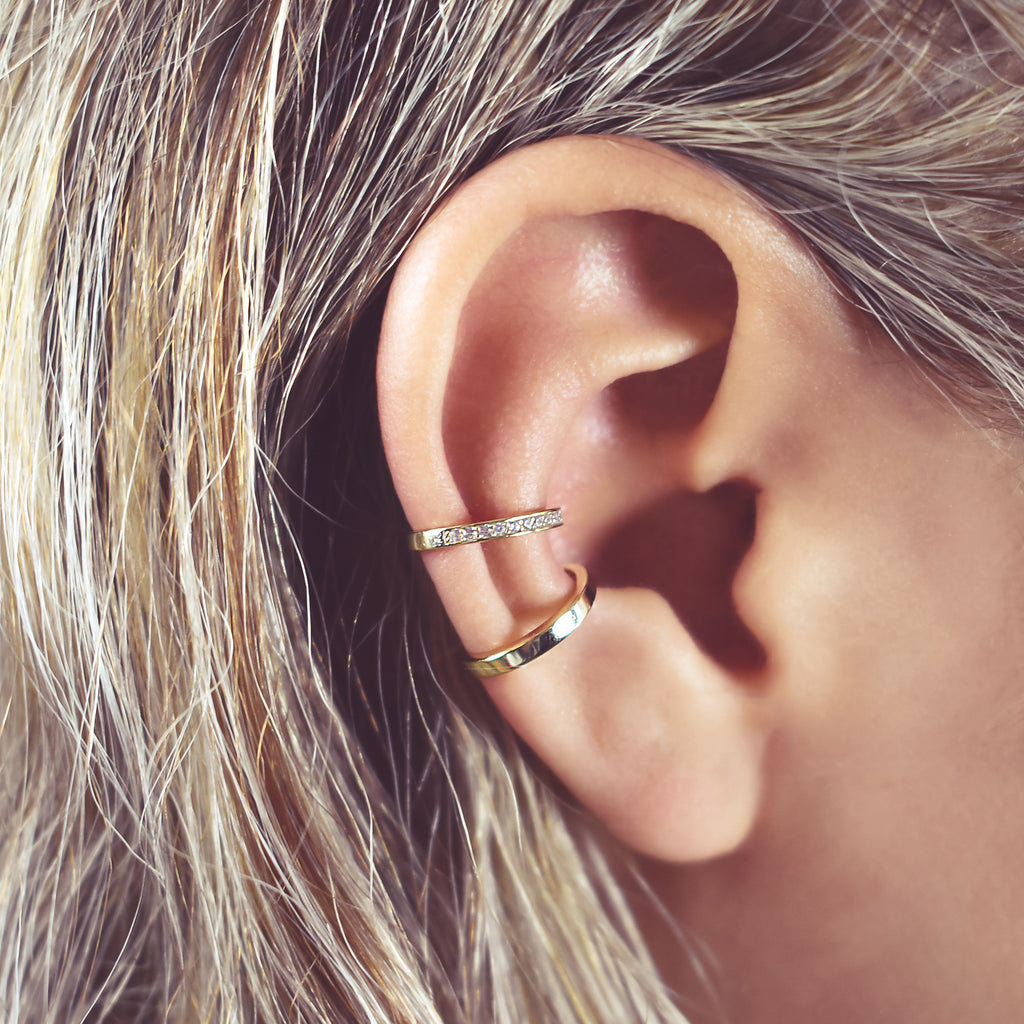 CZ Channel Middle Ear Cuff