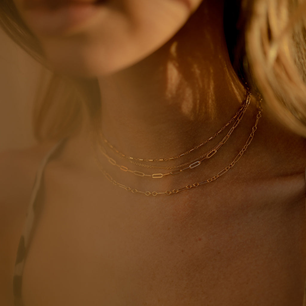 Elongated  Link Chain Necklace