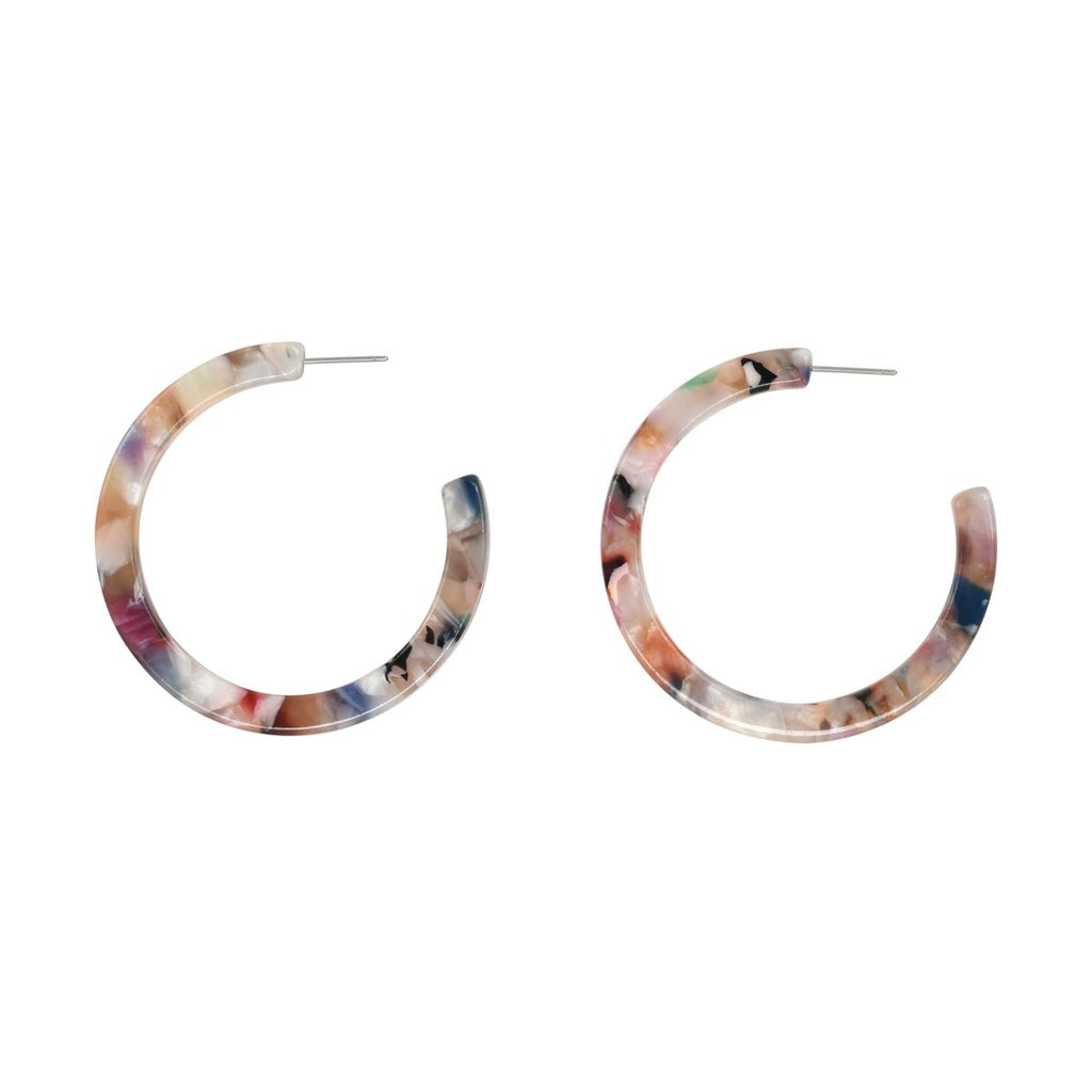 SALE - Rose Granite Lucite Hoops