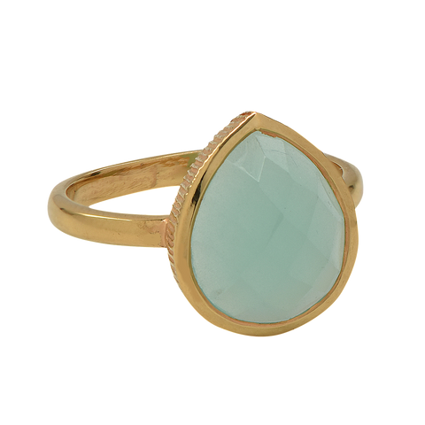 SALE - Teardrop Bezel Stone Ring