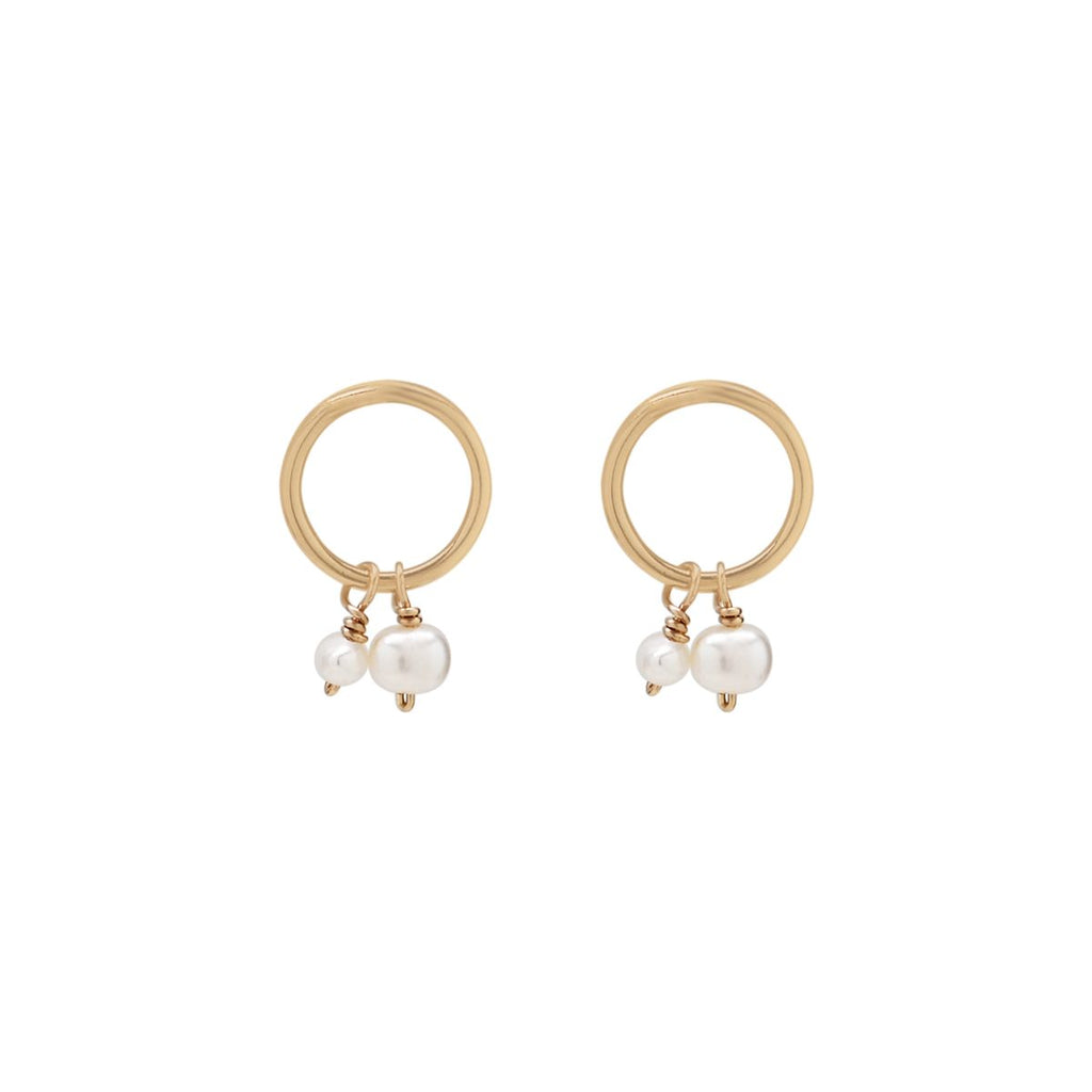 Halo Duo Pearl Studs