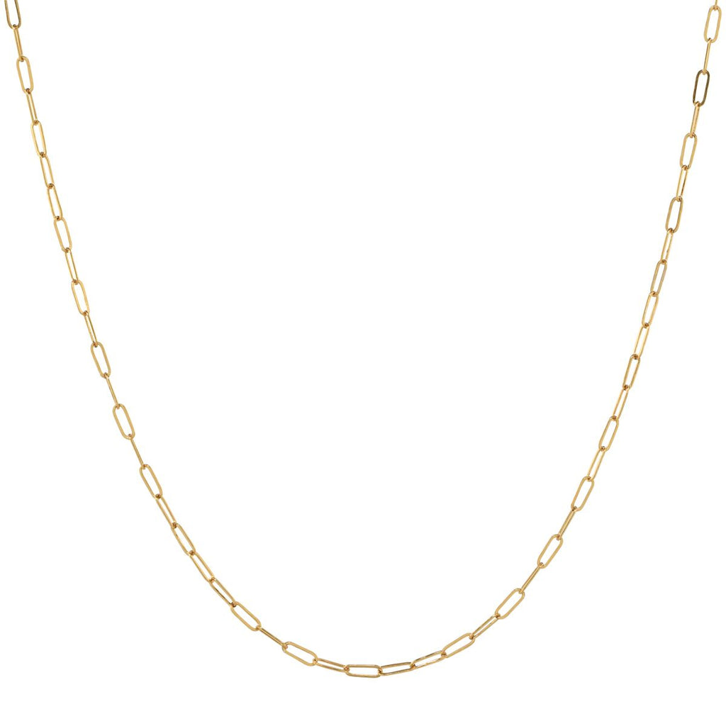 Thin Oval Link Chain Necklace